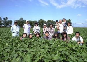 2009大豆畑[今年も来ました」CA391094